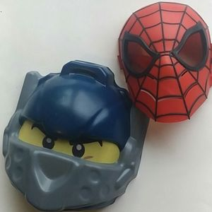 Spiderman mask and lego mask
